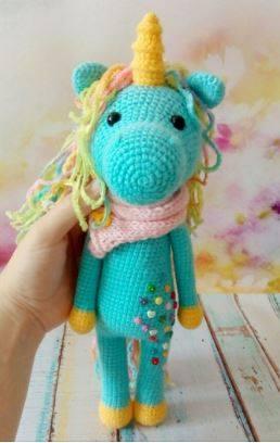 Amigurumi pony unicorno | Giocattoli all'uncinetto, Uncinetto ... | 408x258
