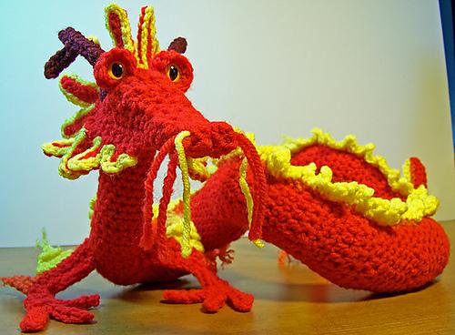 Yaki - Free Dragon Crochet Amigurumi Pattern. A cute dragon ... | 368x500