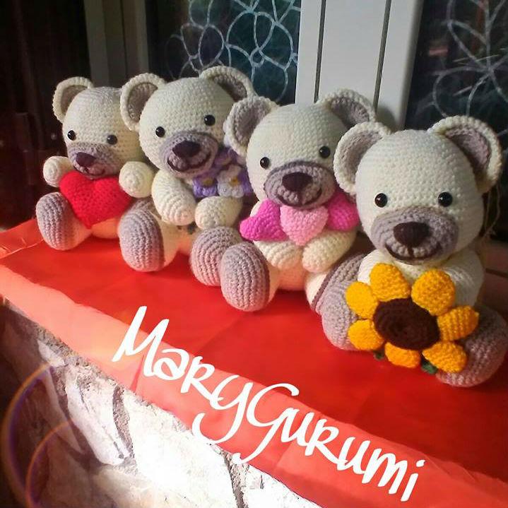 Mushroom Family / Famille Champignon / Famiglio Fungo - Amigurumi | 719x719