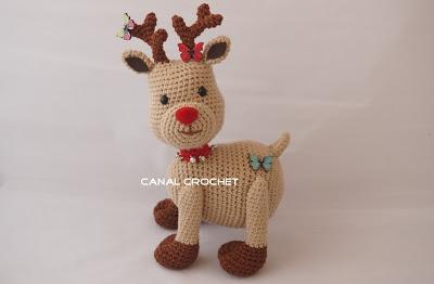 Amigurumi renna natalizia