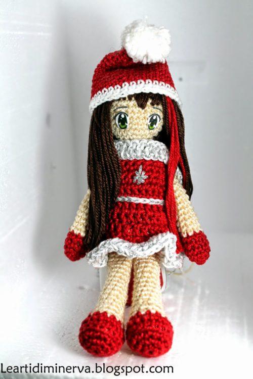 Amigurumi bambolina natalizia free pattern schemi gratis amigurumi amigurumi free dowload