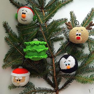 Amigurumi ornamenti per l'albero free pattern schemi gratis amigurumi amigurumi free dowload
