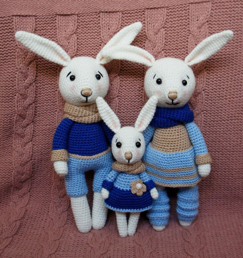 Amigurumi la famiglia dei coniglietti free pattern schemi gratis amigurumi amigurumi free dowload