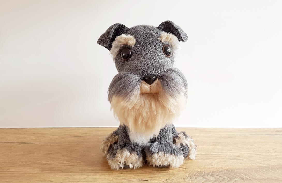 Amigurumi Dog Free Crochet Pattern : Amigurumi Schnauzer Dog - Free Amigurumi