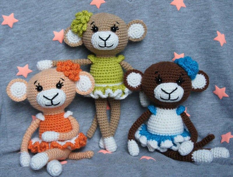 Amigurumi le scimmiette glamorous free pattern schemi gratis amigurumi amigurumi free dowload