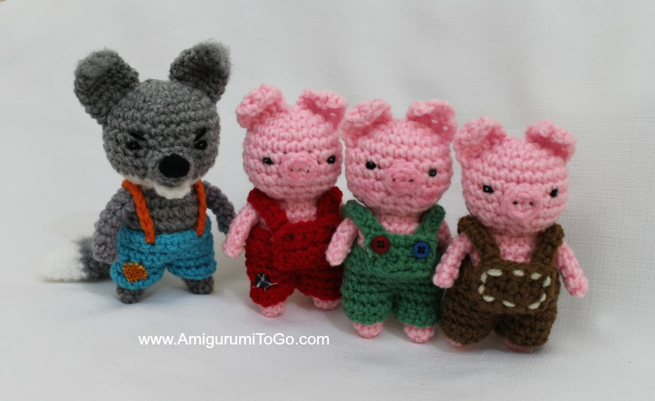 Amigurumi i tre porcellini e il lupo free pattern schemi gratis amigurumi amigurumi free dowload