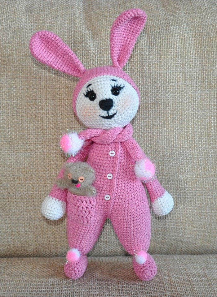 Amigurumi coniglietto in pigiama free pattern schemi gratis amigurumi amigurumi free dowload