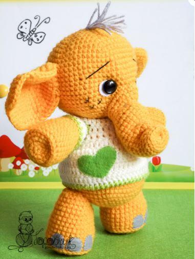 Amigurumi l'elefantino Tommy free pattern schemi gratis amigurumi amigurumi free dowload
