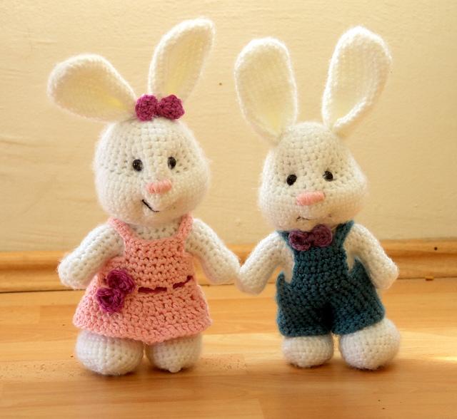 Amigurumi coppia di coniglietti free pattern schemi gratis amigurumi amigurumi free dowload