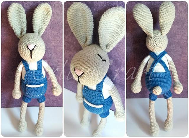Amigurumi, il coniglio in salopette free pattern schemi gratis amigurumi amigurumi free download