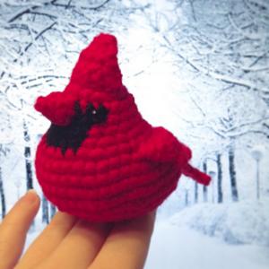 Amigurumi cardinale rosso free pattern schemi gratis amigurumi amigurumi free download