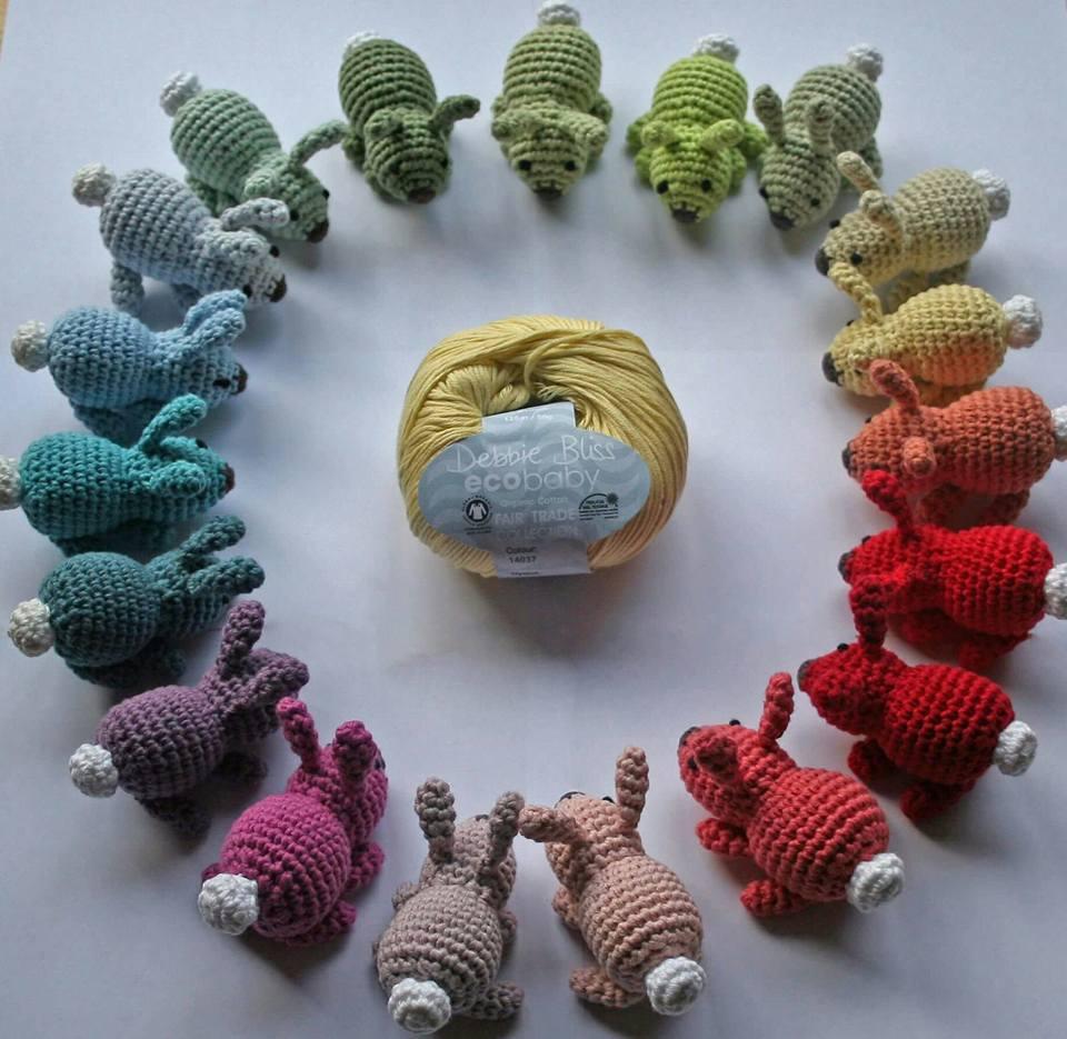 Amigurumi Free Pattern Italiano : Amigurumi coniglietti colorati free pattern