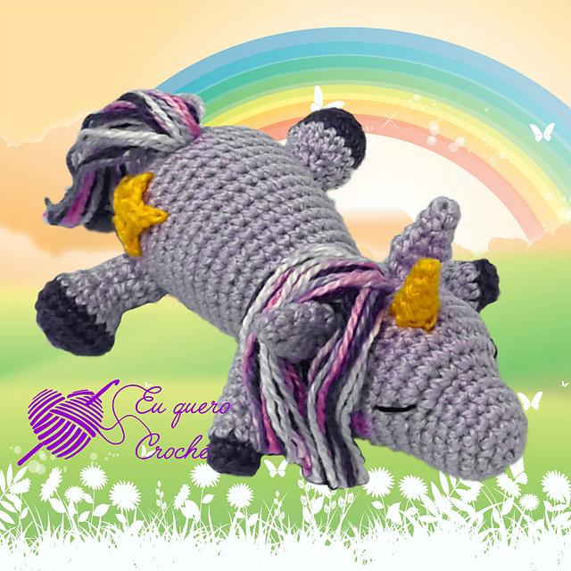 Il baby unicorno addormentato free pattern schemi gratis amigurumi amigurumi free dowload