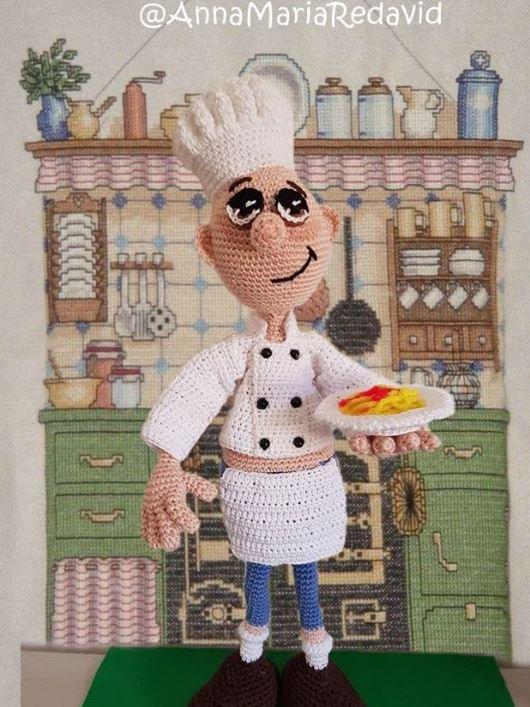 Il cuoco italiano free amigurumi
