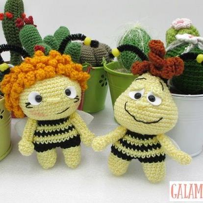 L'ape Maya e Willy free amigurumi