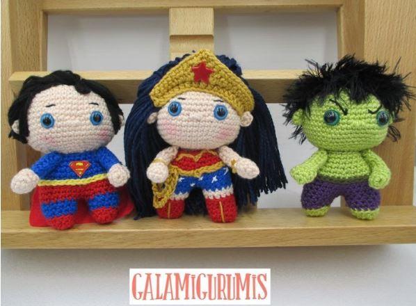 I tre supereroi free amigurumi