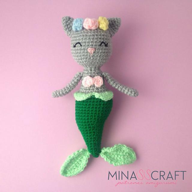 Sirena-gatto free amigurumi