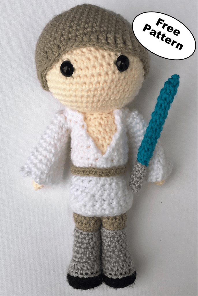 Luke Skywalker free amigurumi