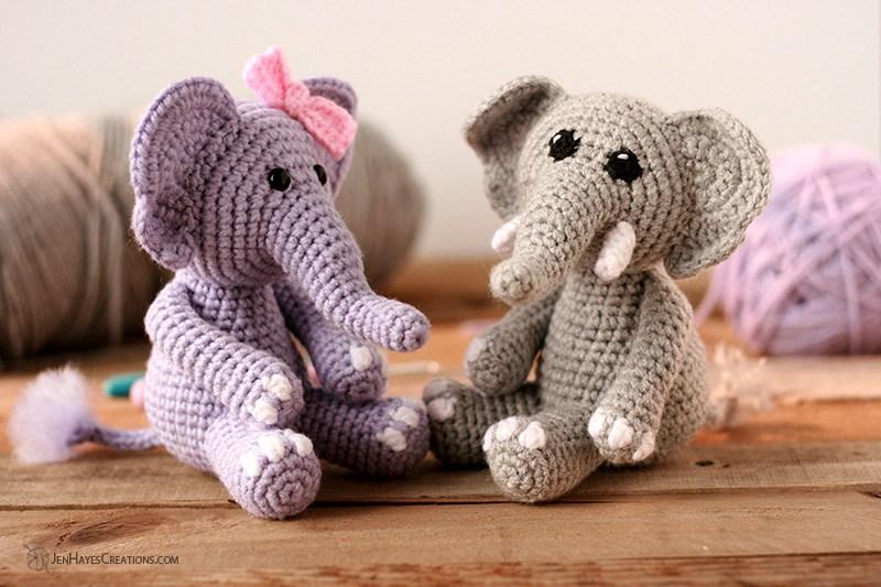 Piccoli elefanti free amigurumi
