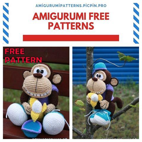 scimmia amigurumi schemi gratis